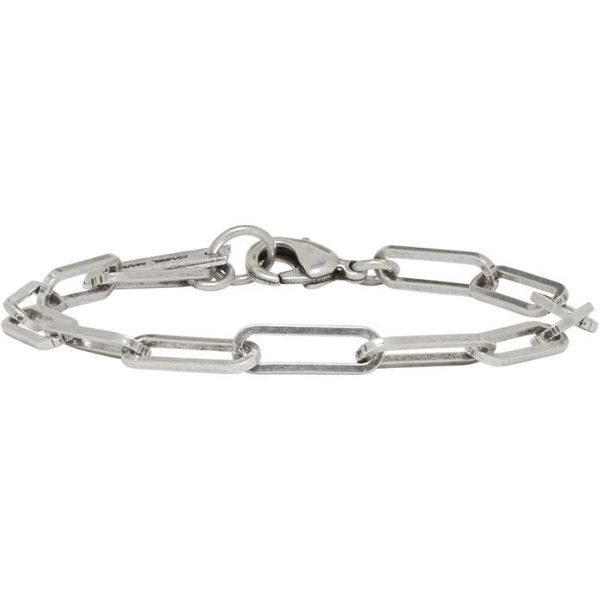 Isabel Marant Silver Mother Bracelet found on Polyvore featuring jewelry, bracelets, silver, chain link jewelry, silver bangles, isabel marant, isabel marant jewelry and silvertone jewelry