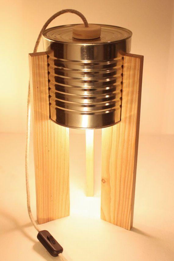 Lampada da tavolo latta. Eco-lampada. Upcycling di studioGET