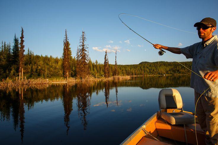 Fishing in Golden, BC.