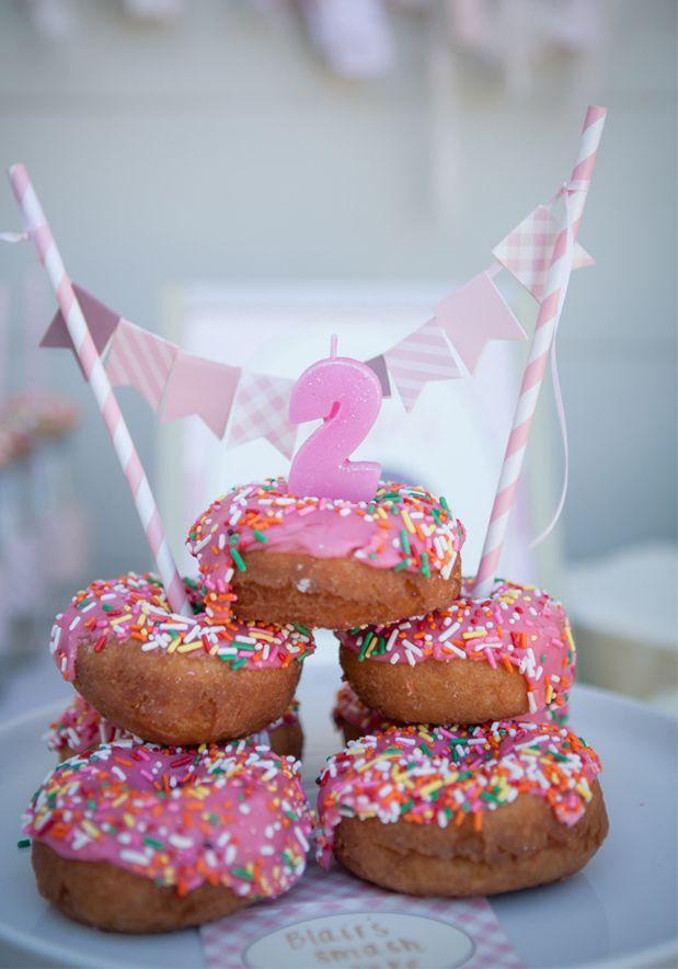 Donut themed birthday party from GreyLikesBaby!