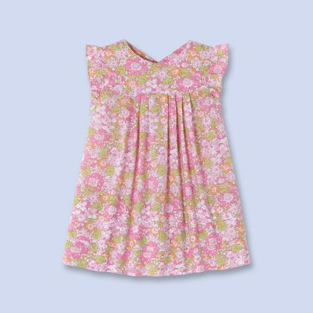 Liberty print dress for baby, girl