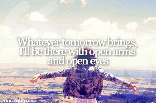 """Incubus - Drive """"Whatever tomorrow brings, I'll be there with open arms and open eyes."""""""