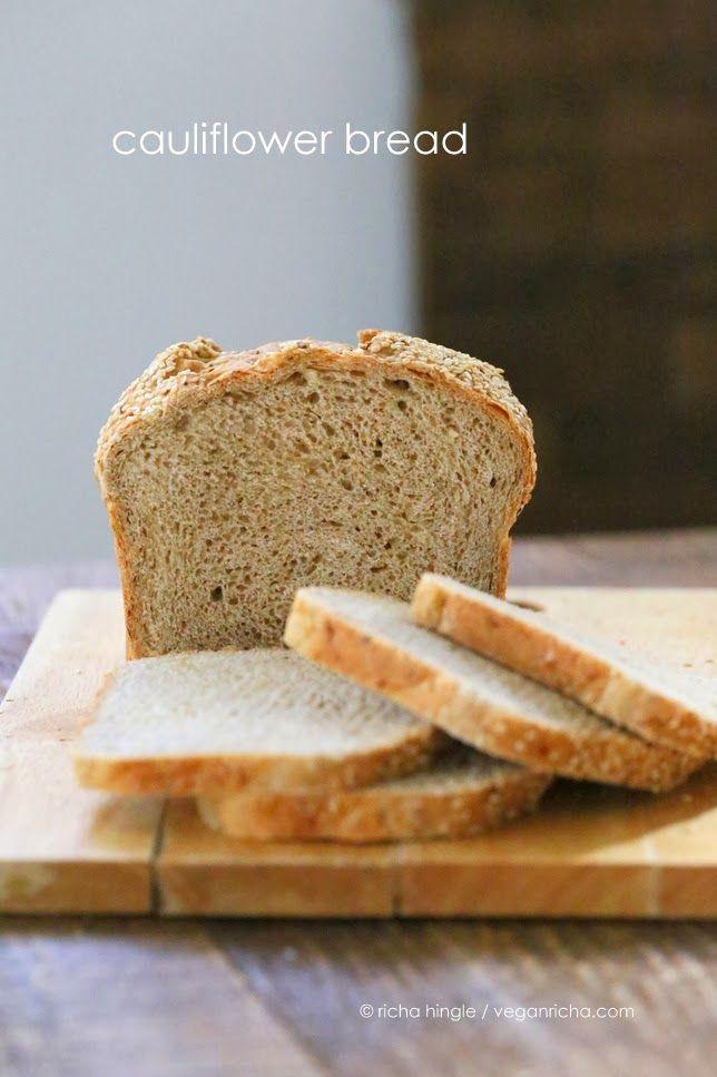 Cauliflower Sandwich Bread Loaf. Vegan Recipe