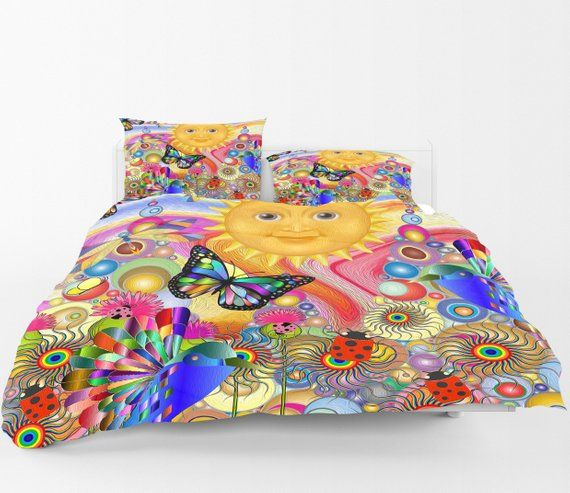 Boho Hippie Comforter Bedding Set Under The Sun Hippie Bedding Boho Bedding Sets Boho Bedding