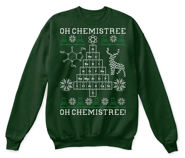 Oh Chemistree, oh Chemistree! Ugly Christmas Chemistry Long Sleeve Shirt