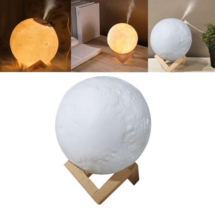 3d Printing Usb Led Moon Lamp Night Light Air Humidifier Diffuser Mist Purifier Home Fragrances Ebay Link In 2020 Air Humidifier Mist Diffuser Night Light