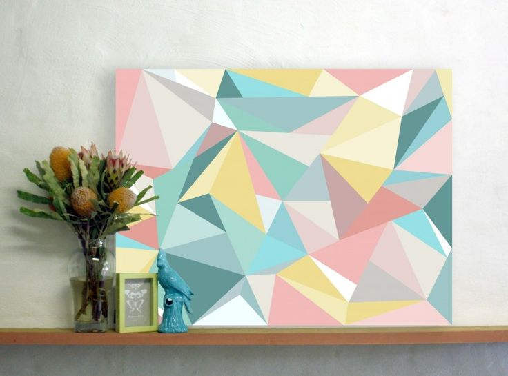 Facet Love Canvas in Turquoise | The Block Shop - Channel 9