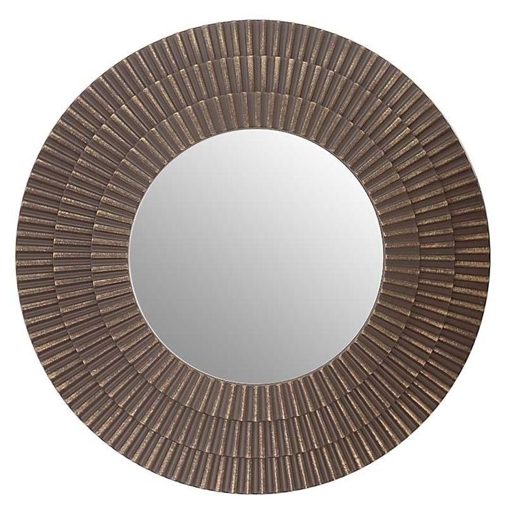 PLASTIC WALL MIRROR IN BROWN COLOR D-60 (6) - Wooden - Polyester - MIRRORS