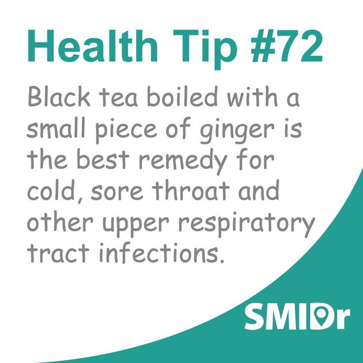 Black tea boiled with a small piece of ginger is the best #remedy for cold, sore throat and other upper respiratory tract infections.