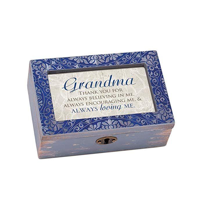 Cottage Garden Grandma Thank You For Loving Me Denim Decoupage Petite Music Box Plays Edelweiss Review Thank You For Loving Me My Love Loving