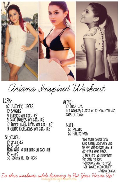 Ariana Grande Workout Routine and Diet Plan: From Nickelodeon to Music Sensation and Icon