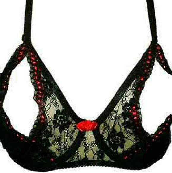 Frederick's of Hollywood SEXY HOT OPEN CUP bras Frederick's of Hollywood SEXY HOT Red Lace OPEN-CUP PEEK-A-BOO CUP Bras  *********VALENTINE'S DAY IS AROUND THE CORNER*************THIS IS THE HOTTEST SELLING BRA BY FOH!!!  What our customer's had to say about these BRAS below:  If you see the back of this bra, you'll see the straps has 3 different selections than can be tighten or to loosen as shown in pictures for all fits.  ~~~~RETAILS $34.99 AND SOLD OUT MOST PLACES!!~~~~  SAVE $$$ FOR…