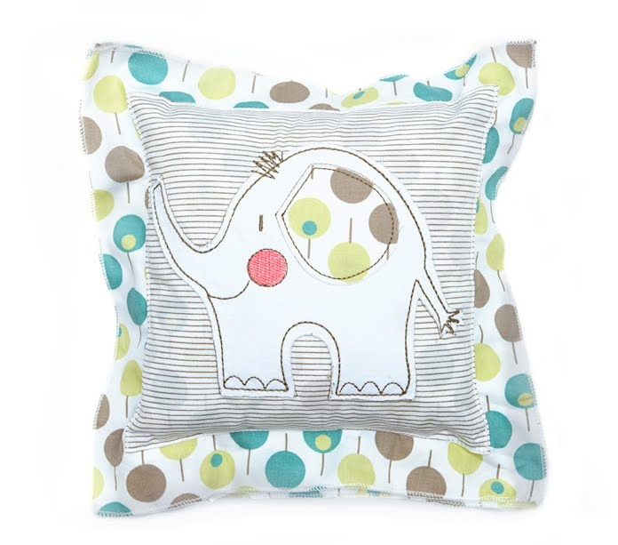 Ella & Otto Elephant Cushion