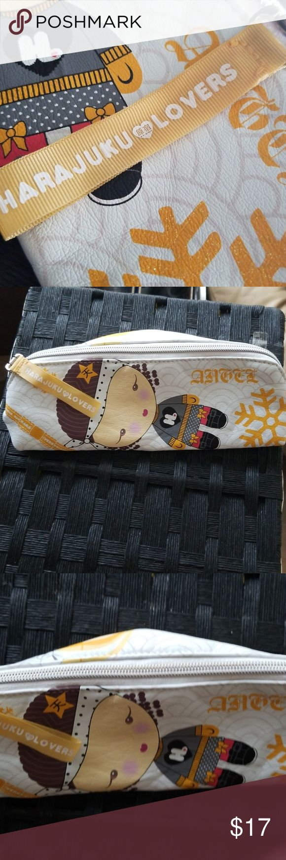 Harajuku Lovers Pouch Angel EUC, use as pencil holder or makeup case you decide….