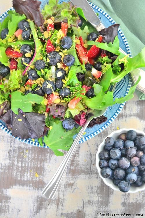 Blueberry Salad with Coconut Dressing-Yummy and Divine Salad Recipes