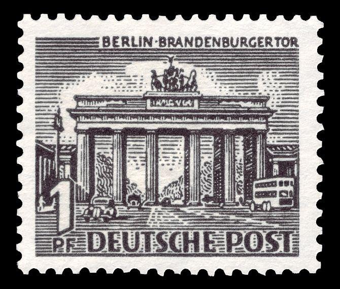 Deutsche Post Berlin 1949 Brandenburger Tor Berlin Brandenburg Deutsche Post