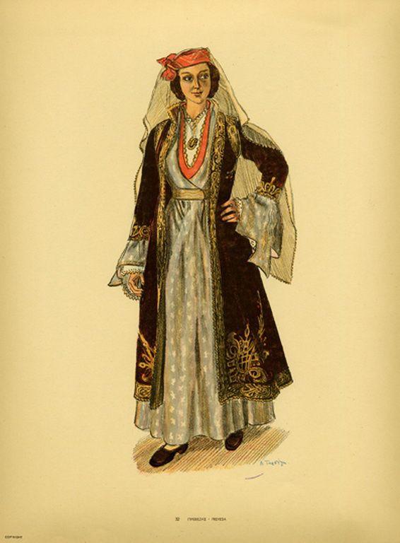 Φορεσιά Πρεβέζης. Costume from Preveza. Collection Peloponnesian Folklore Foundation, Nafplion. All rights reserved.