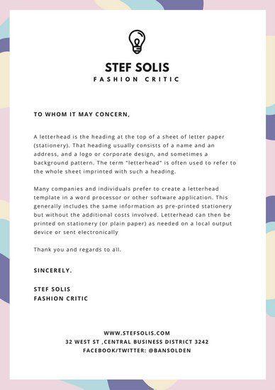 Más de 25 ideas increíbles sobre Online letterhead maker en - personal letterhead template