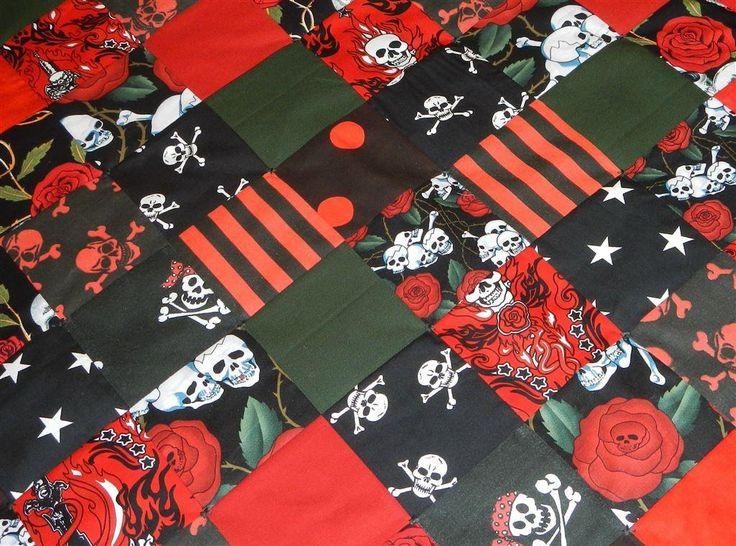Annons på Tradera: Punk Rock Goth Barnvagn Baby Täcke Lapptäcke Babyfilt Lekmatta Filt,Nysytt!