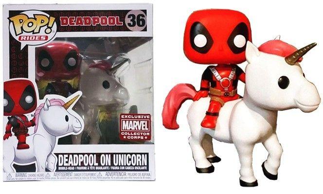Avengers Deadpool Action Figure Deadpool Riding Unicorn Collectible Figure Toy
