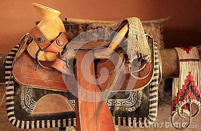 Silla de montar mexicana del caballo