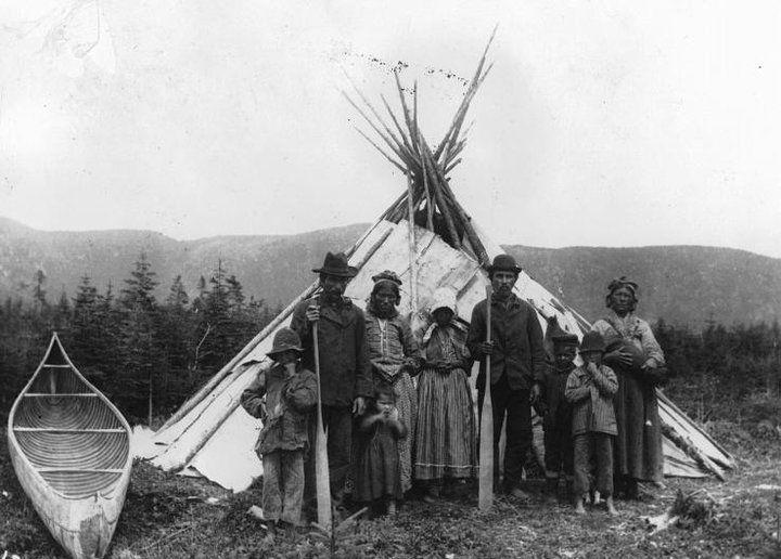Innu group at Mingan, Quebec - 1920