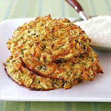 Hamburguesas crujientes de calabacín y zanahoria