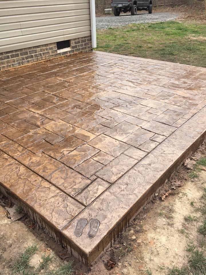 Stamped Concrete Patio Ashlar Slate Interior Texture Border