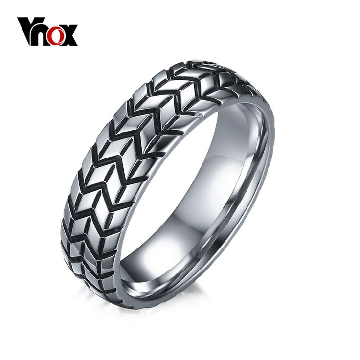 Vnox Tire Tread Style Grooved Ring Men Jewelry Rock Punk Vintage Stainless Steel Party Jewelry #electronicsprojects #electronicsdiy #electronicsgadgets #electronicsdisplay #electronicscircuit #electronicsengineering #electronicsdesign #electronicsorganization #electronicsworkbench #electronicsfor men #electronicshacks #electronicaelectronics #electronicsworkshop #appleelectronics #coolelectronics