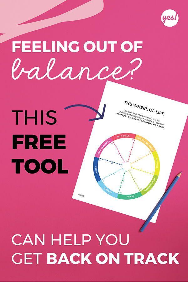 Life Balance Wheel Find Balance In Your Life Yes We Made This Life Balance Wheel Wheel Of Life Life Balance
