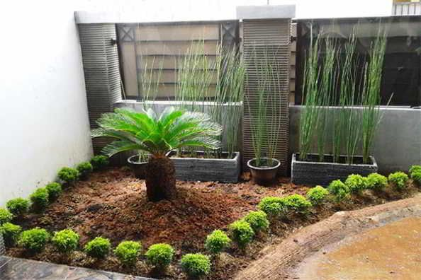 Contoh Taman Rumah Minimalis Lanskap Desain Rumah Minimalis
