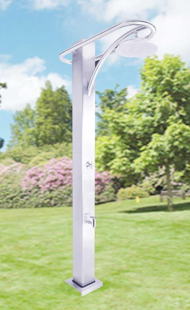 dusche atlantis von httpwwwwellness stockdegartendusche ist aus hochwertigem edelstahl gefertigt die moderne kaltwasserdusche atlantis hat e - Dusche Garten Ohne Wasseranschluss