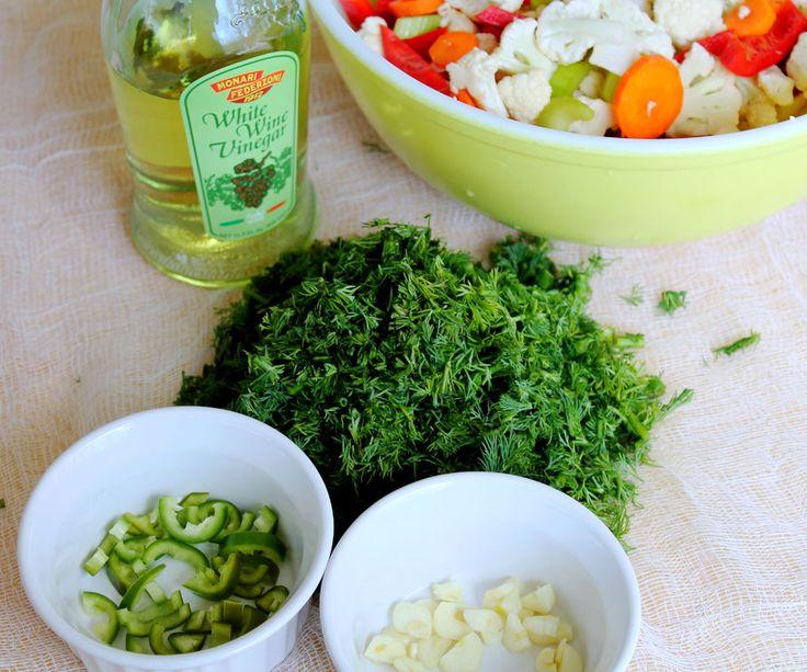 pickles     Homemade Giardiniera  Italian-style pickled vegetablesItalian Pickled Vegetables