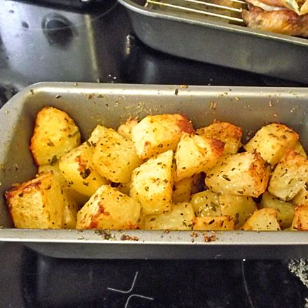 Potato Rosti- 3 medium potatoes peeled and cubed   localoffersIcon   1 TBS oil  1/2 tsp salt  1/2 tsp pepper   localoffersIcon   1/2 tsp parsley  1 TBS parmesan (grated)