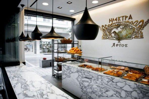 Elektra Bakery, Edessa/Studioprototype Architects -Furniture by Xavier Pauchard and lighting by Tom Dixon.
