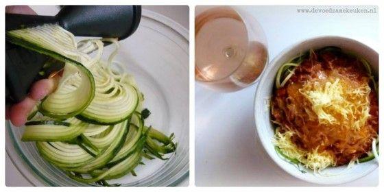 Een verzameling courgette recepten- spaghetti van courgette