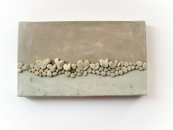 3D wall decor gift with actual heart shaped by MedBeachStones https://www.etsy.com/listing/128115759/3d-wall-decor-gift-with-actual-heart?ref=related-3