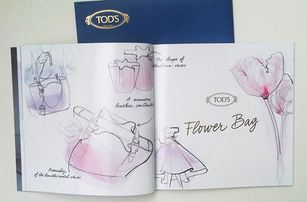 Tod's, Brochure, Autumn/Winter 2014/2015, watercolor on Behance