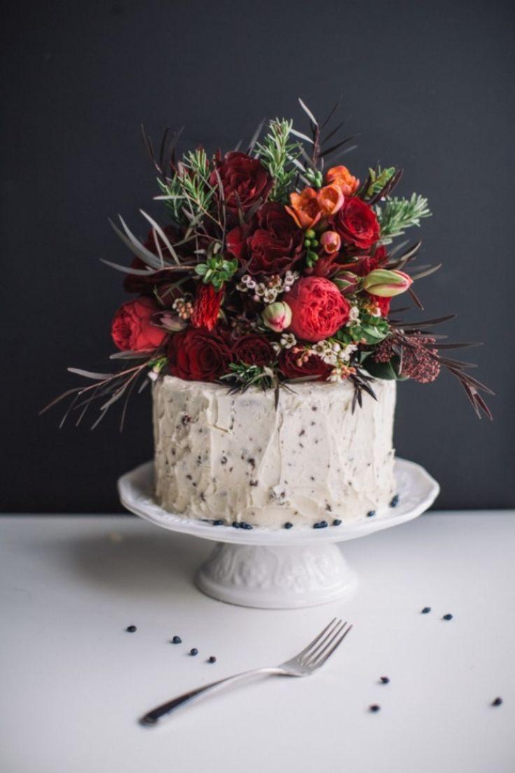 flower adorned cake.