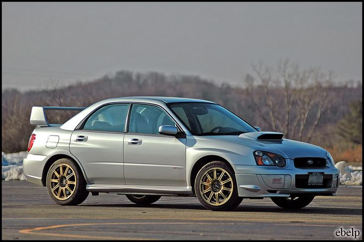 In 2004, Subaru of America announced it would sell the WRX STi. Subaru Tecnica International's president said in an interview with Road & Track magazine that he wished to beat the Mitsubishi Lancer Evolution in the US. #Subaru #subaruidiots #WRX #STi #Turbo #Impreza #Boost #Enthusiast #Subarulove