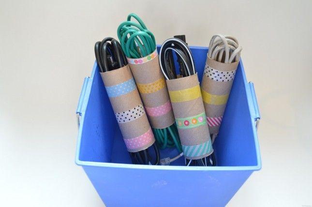 11 Creative DIY Ways to Organize Your Cords via Brit + Co.
