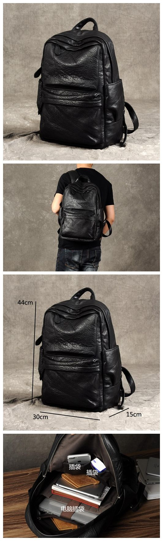 HANDMADE LEATHER BACKPACK, LEATHER LAPTOP BACKPACK