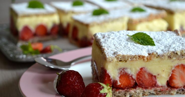 Julias zuckersüße Kuchenwelt: Fränzösische Erdbeerschnitten