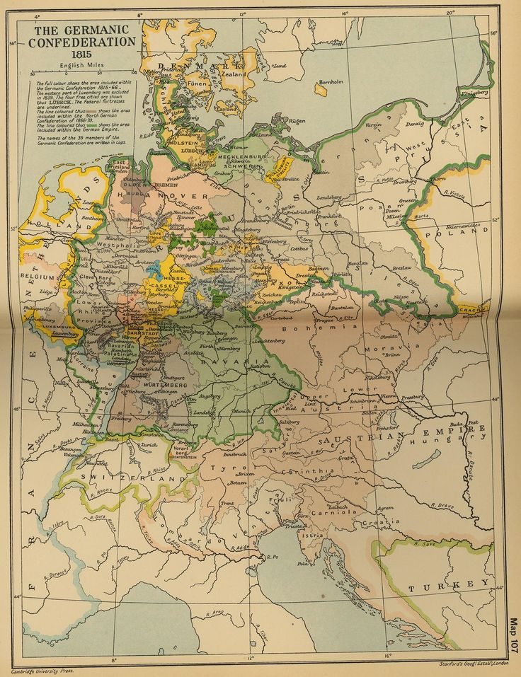 Map of the German Confederation 1815-1866