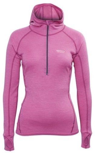 Brynje Lady Classic Rib Shirt w/hood, Pink