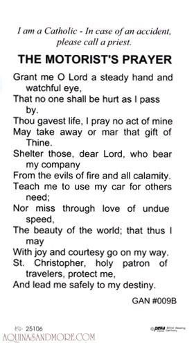 st. christopher travelers prayer - Google Search