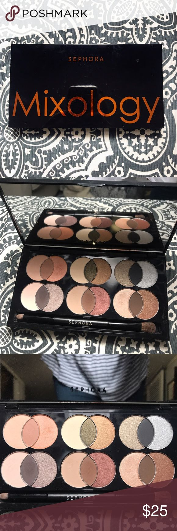 Sephora Mixology Eye Shadow Pallet Sephora Mixology eye shadow pallet! Great pallet that pairs complimentary colors. Shadows have only been swatched with two colors being used a couple of times. Basically brand new and in great condition! Sephora Makeup Eyeshadow
