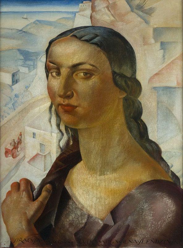 Ludomir Ślendziński, Portret Sycylijki (Syrakuzanka), 1927 r.