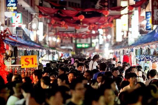Chinatown Street Market - Take yourself back in time at the vibrant Chinatown Night Market and scour through a rich variety of wonderful items like dragon candles, street opera masks, traditional clothing and Chinese calligraphy