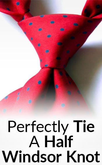 How To Tie The Half Windsor Knot   Tying The Half-Windsor Necktie